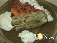 Приготовление блинного торта с грибами: шаг 13