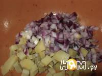 Приготовление салата Мужской каприз с ветчиной: шаг 2