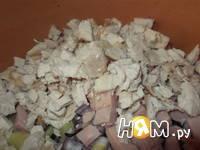 Приготовление салата Мужской каприз с ветчиной: шаг 4