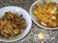 Приготовление блинчиков с капустой и яйцом: шаг 3
