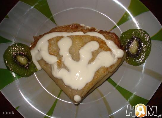 """Рецепт Блины """"Школярики"""" с бананом и киви"""