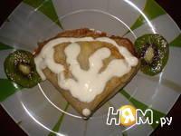 """Приготовление рецепта Блины """"Школярики"""" с бананом и киви: шаг 4"""