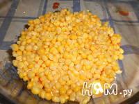 Приготовление слоеного салата с морковью по-корейски: шаг 3