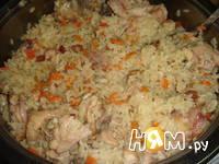 Приготовление плова из курицы с изюмом: шаг 9