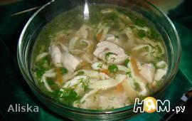 Куриный суп с фледле