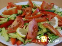 Приготовление салата Свежесть: шаг 4
