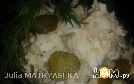 "Салат из трески ""Зимний"""