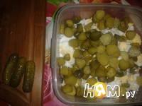 Приготовление салата из трески с яйцом: шаг 5