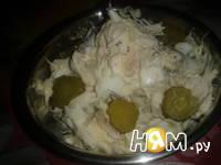 Приготовление салата из трески с яйцом: шаг 7