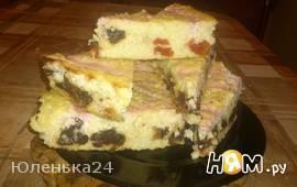 Пшеный пирог с сухофруктами