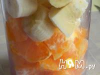 Приготовление смузи с бананом и мандарином: шаг 1