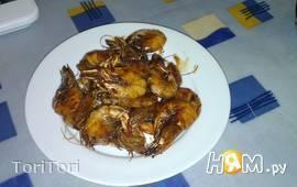 Королевские креветки в медово-соевом соусе