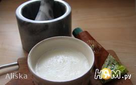 Заправка салатная из творога с молоком