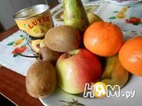 Приготовление фруктового салата: шаг 1
