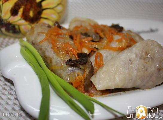 Рецепт Голубцы с гречкой и картофелем