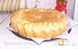 Пирог  постный с картошкой и солеными огурцами