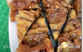 Банановый карамельный перевёрнутый пирог