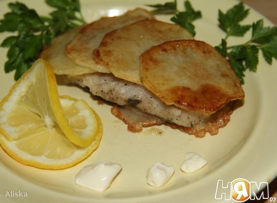 """Рыба в картофельной """"чешуе"""""""