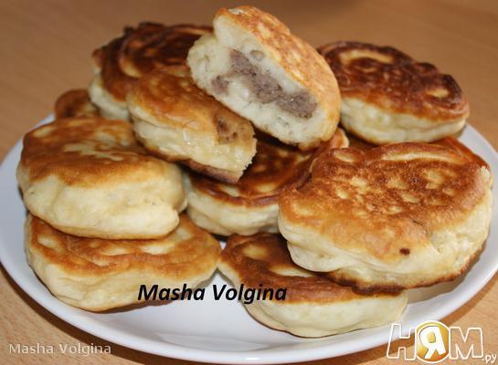Рецепт Оладушки с мясным фаршем