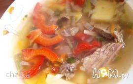 Овощной суп из баранины с эстрагоном