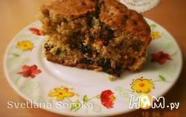 Пирог овсяный с сухофруктами и семечками