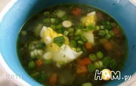 Легкий суп со щавелем и мятой