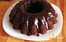 Шоколадный пивной кекс с шоколадным пивным кремом