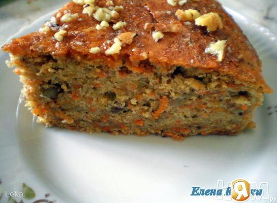 Бананово-морковный пирог