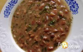 Суп из фасоли с зеленью