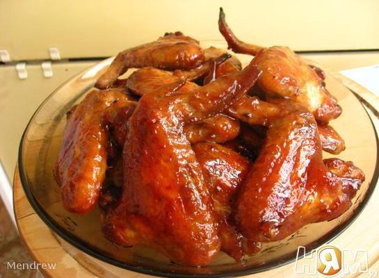Крылья куриные в соево-медовом соусе