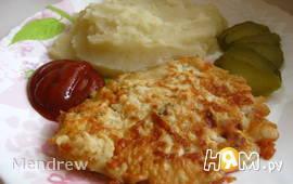 Отбивные куриные с сыром в кляре