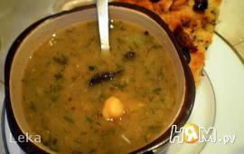 Суп из нута с грибами