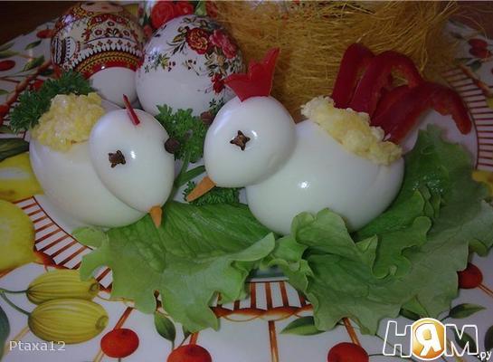 Пасхальные яйца (петушок и курочка)