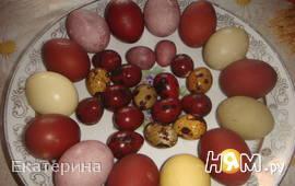 Пасхальные яйца (натуральные красители)