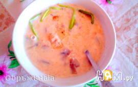 Сливочно-сырный крем-суп с грибами и курочкой