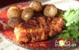 Курица с запечёным молодым картофелем