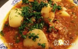 Суп-пюре с рубленым мясом