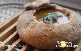 Чешский суп в хлебном горшочке