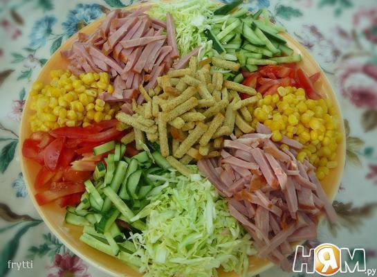 салат козёл рецепт фото с помидорой