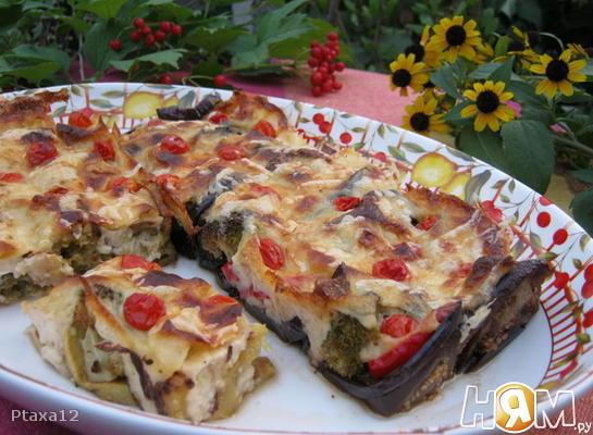 Овощи в соусе бешамель