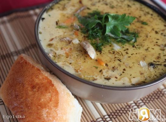 Сырно-чесночный чешский суп