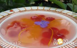 Суп черешнево-апельсиновый