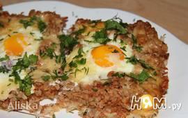 Джамбалайя (рис с фаршем и яйцами запеченные)