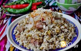 Ароматная каша с машем,рисом и мясом