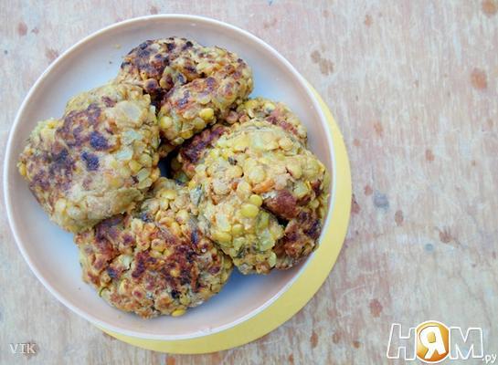 Рецепт Вегетарианские котлеты из чечевицы