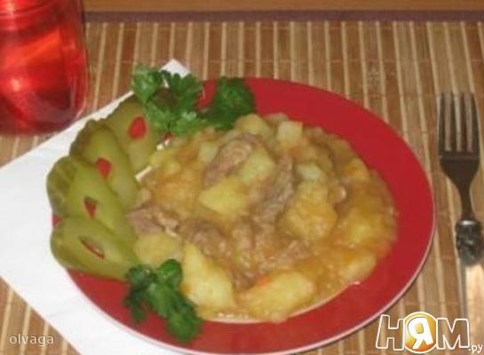 Мясо тушеное как в детском саду рецепт с пошагово