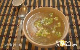 Китайский суп с грибами и курицей