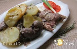 Горячий горшочек (баранина с картофелем и почками)