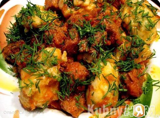 Рагу с мясом и грибами