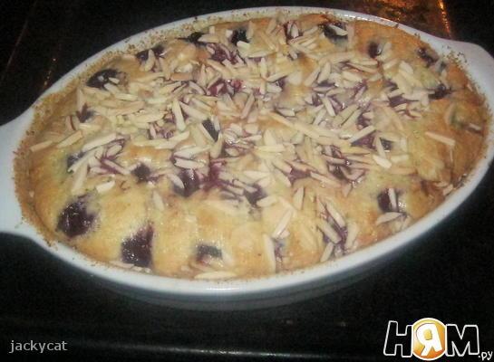 Лимонный пирог с вишней